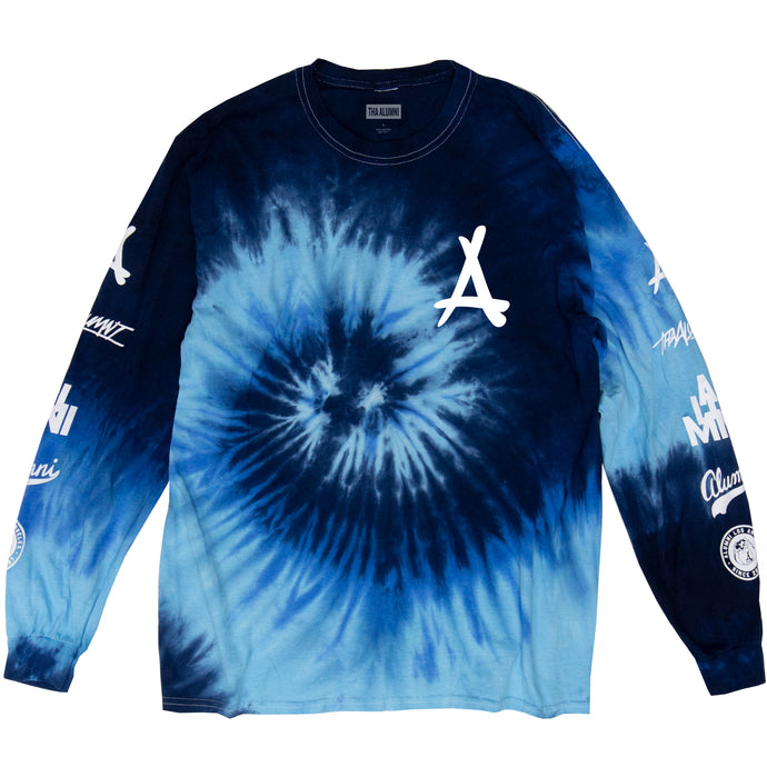 TIE DYE LONG SLEEVE TEE (OCEAN BLUE)