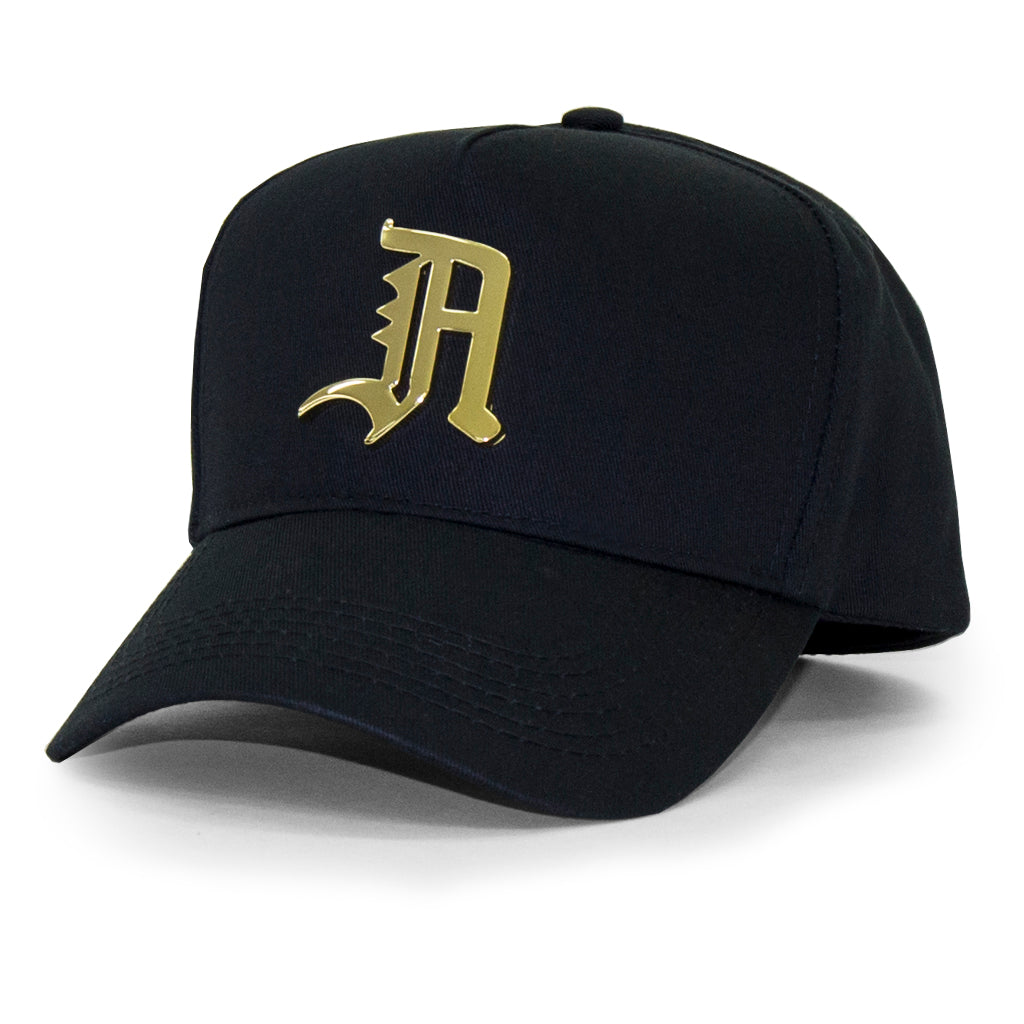 "24K OLD ENGLISH ""A"" SNAPBACK (BLACK)"
