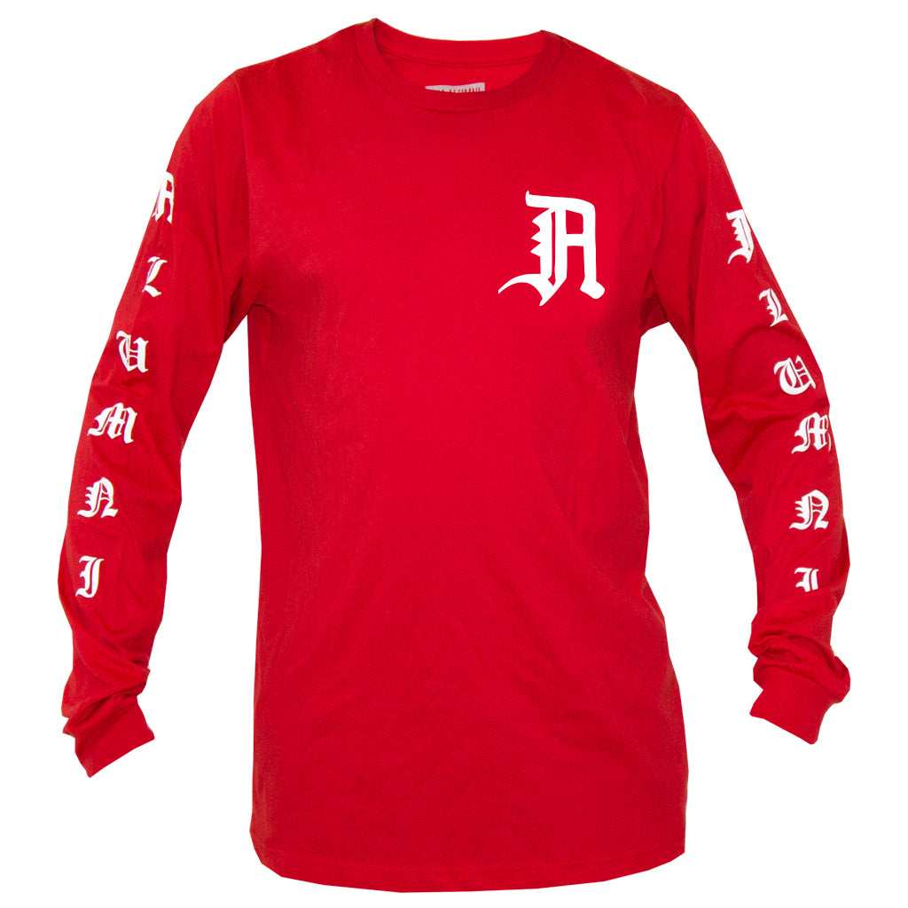 OLD ENGLISH L/S TEE (RED)