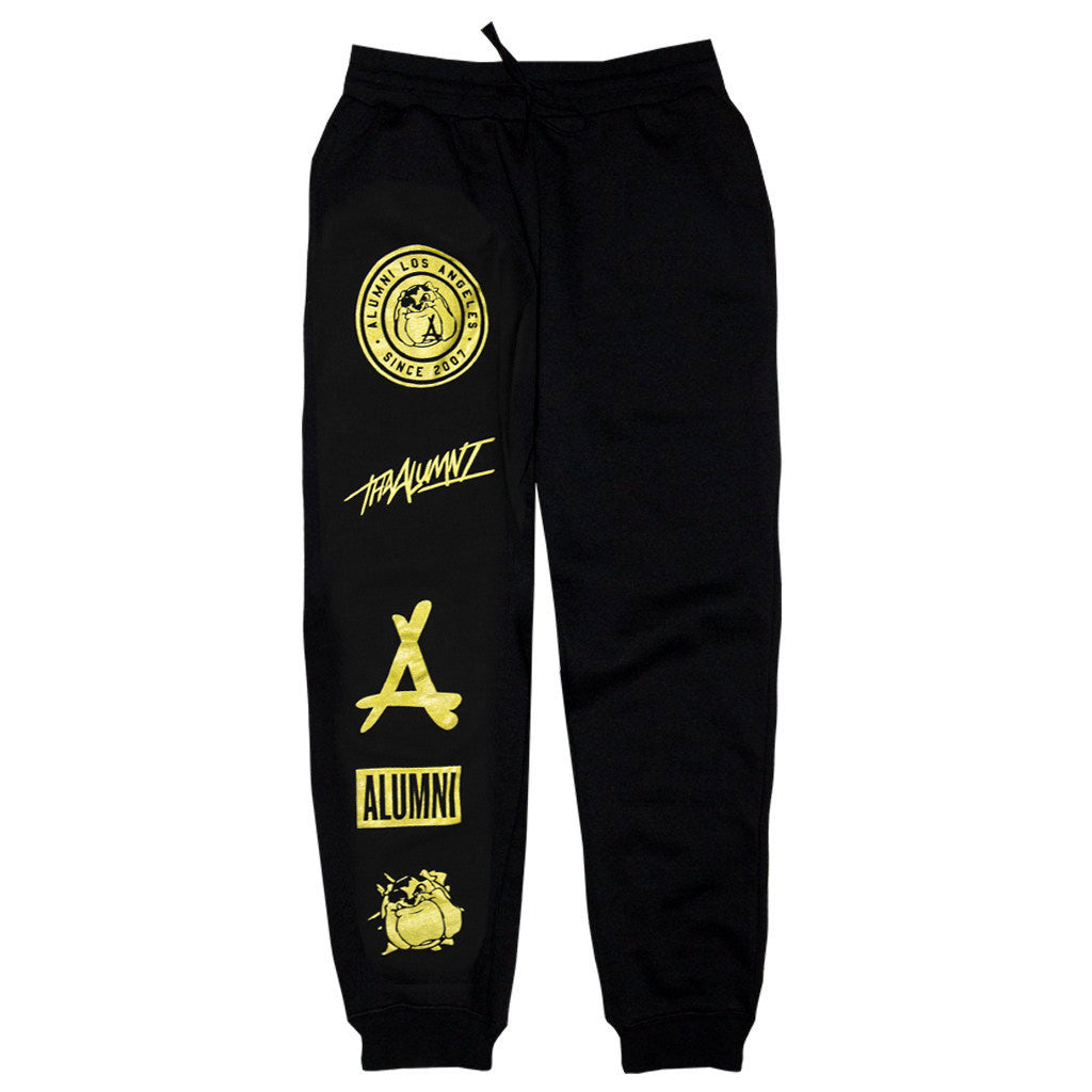 PLAYOFF JOGGERS (BLACK + GOLD)