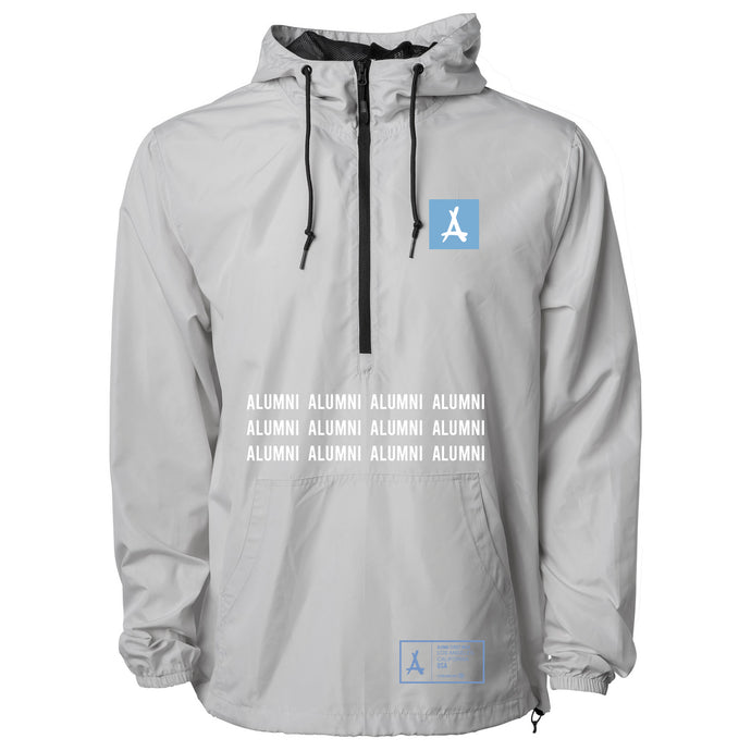 PULL-OVER WINDBREAKER (BONE + CAROLINA BLUE)