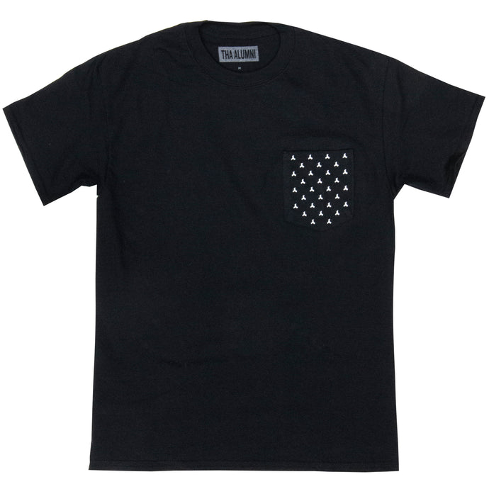 HEAVY LOGO POCKET TEE (BLACK)