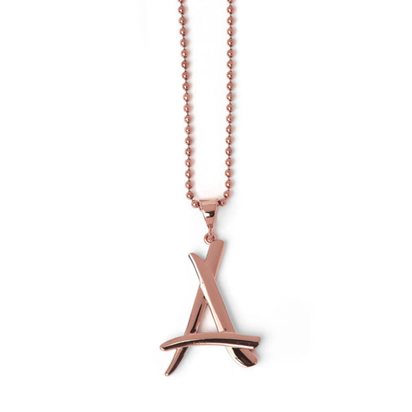 "ROSE GOLD ""A"" CHAIN"