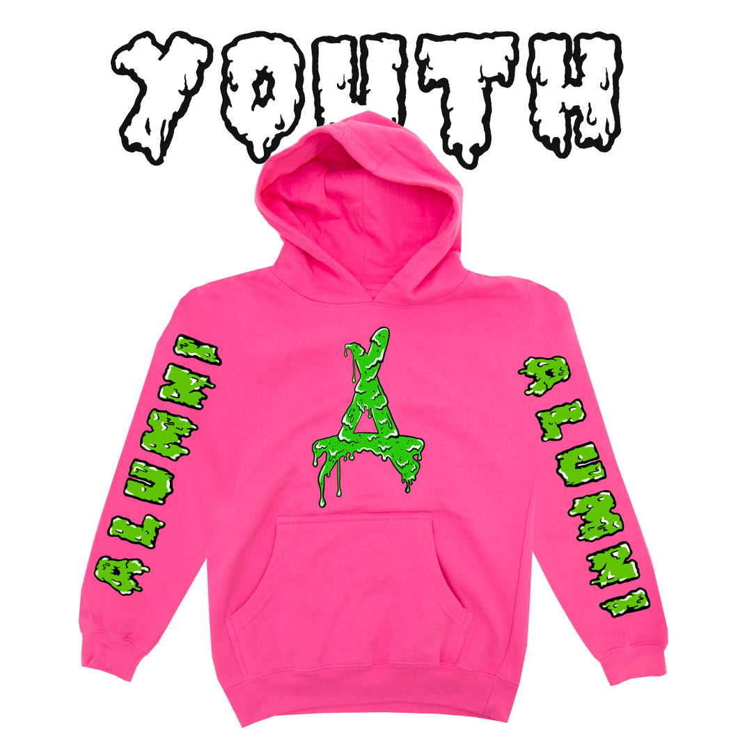 YOUTH SLIME HOODIE (HOT PINK)