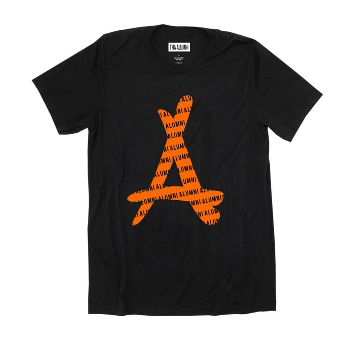 ORANGE LOGO TEE (BLACK)