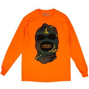 SKI MASK L/S TEE (SAFETY ORANGE)