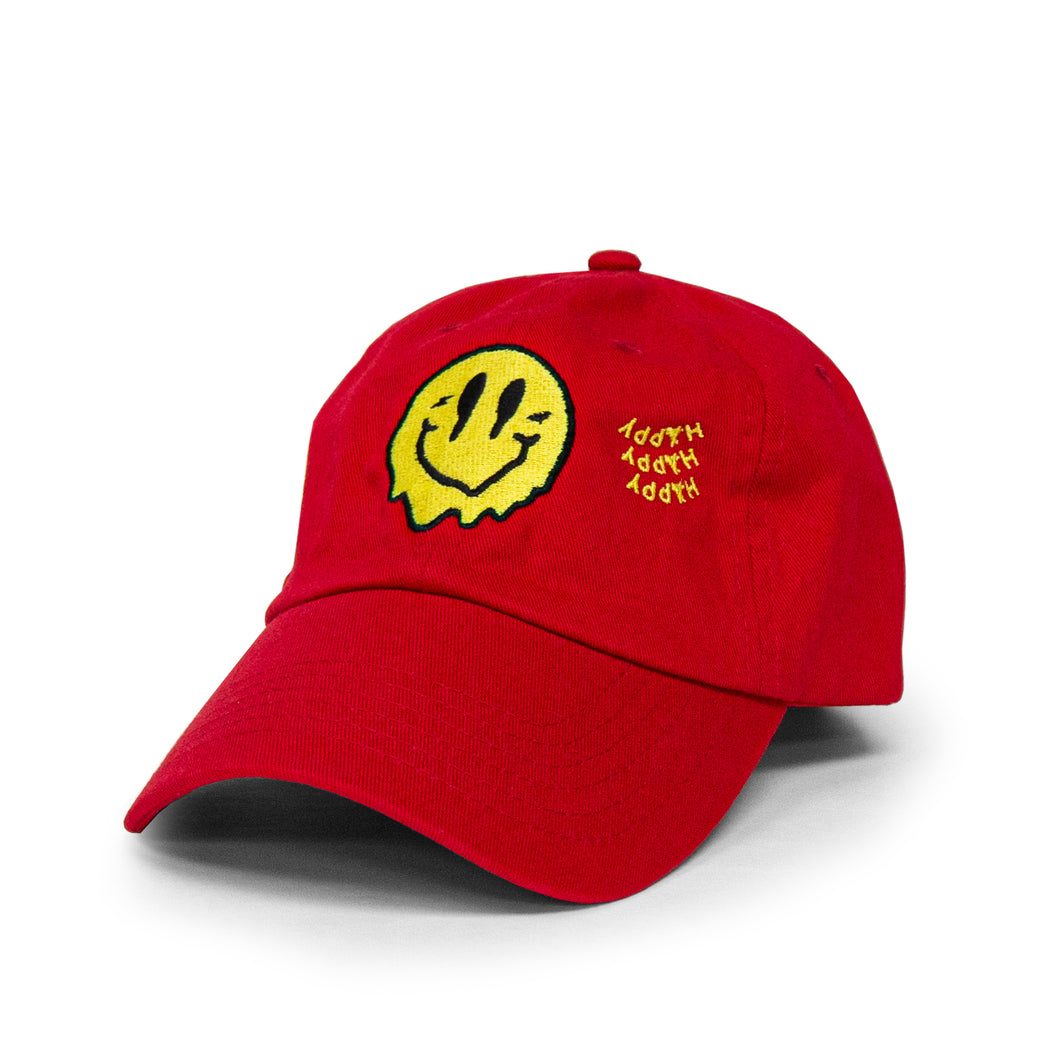 SMILEY DAD HAT (RED)