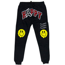 Load image into Gallery viewer, SMILEY JOGGERS (BLACK)