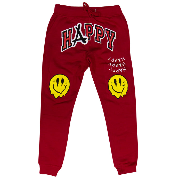 SMILEY JOGGERS (RED)