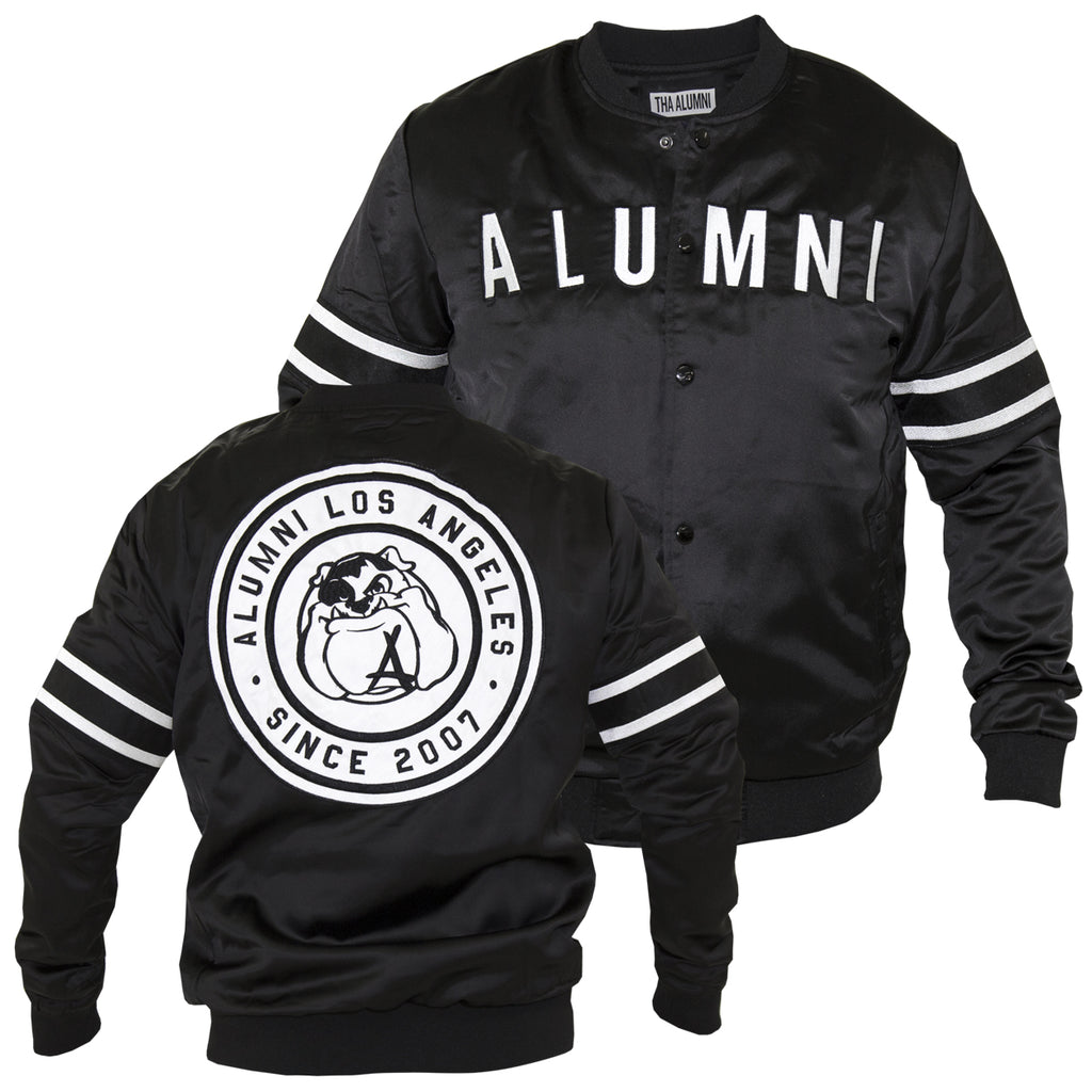 MASCOT BASEBALL JACKET (BLACK)
