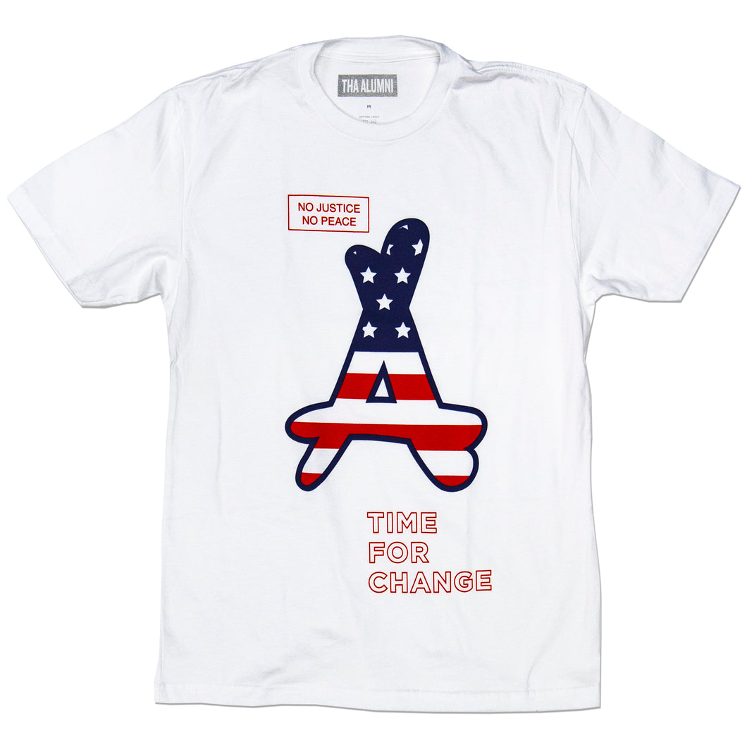 TIME FOR CHANGE TEE (WHITE)