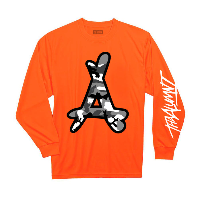 WINTER CAMO LS TEE (ORANGE)