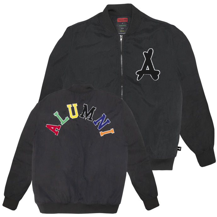 VARSITY FLIGHT JACKET (RETRO BLACK)