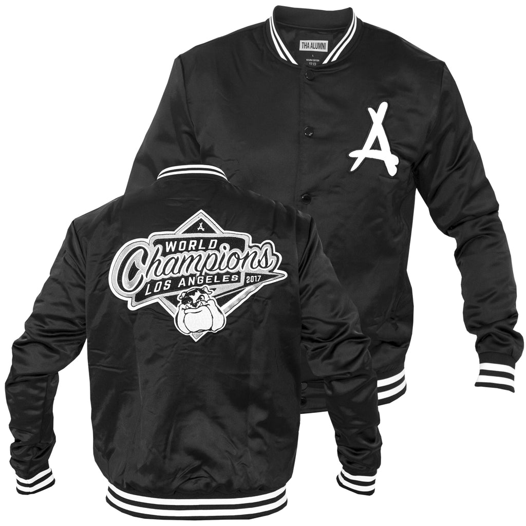 2017 WORLD CHAMPS BASEBALL JACKET (BLACK)