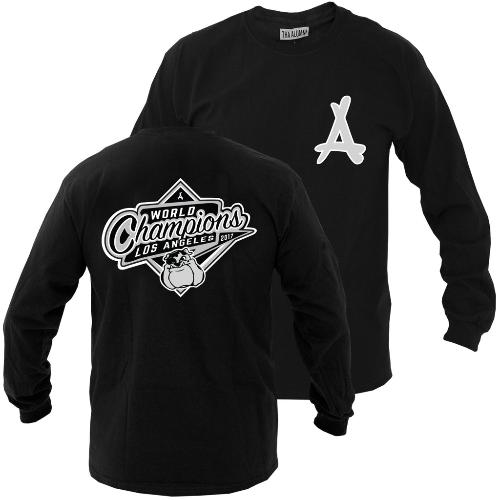 2017 WORLD CHAMPS LS TEE (BLACK)
