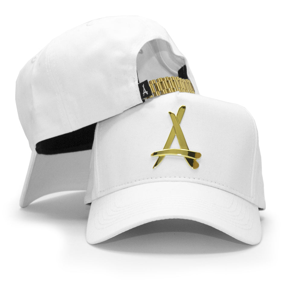 WHITE 24K PRESIDENTIAL (CURVED BILL)