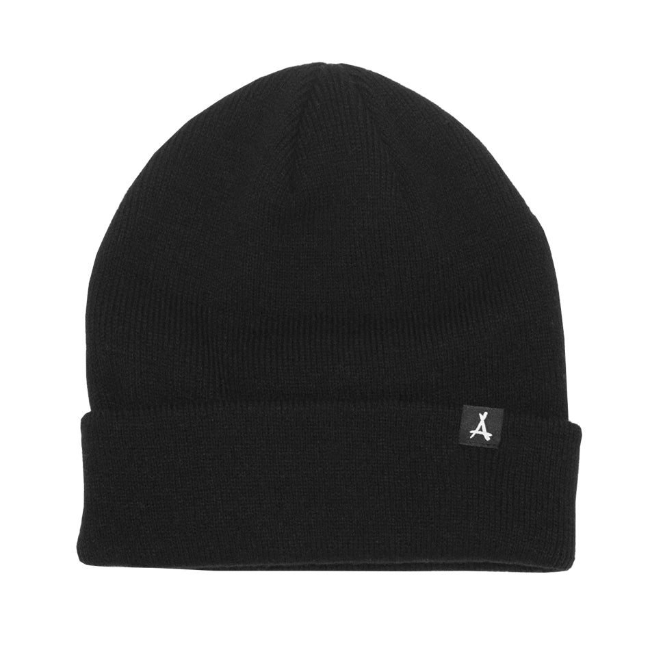 WOVEN LABEL BEANIE (BLACK)