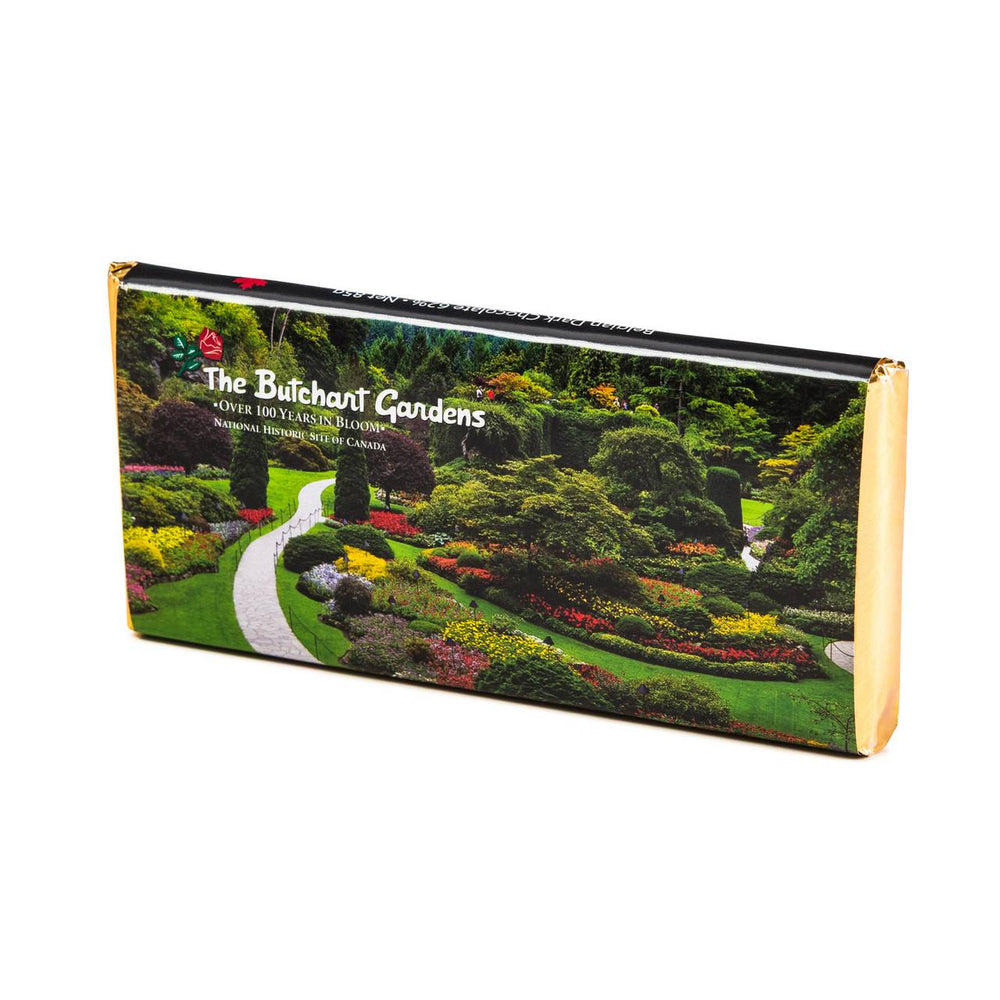 BUTCHART GARDENS DARK CHOCOLATE BAR 85G