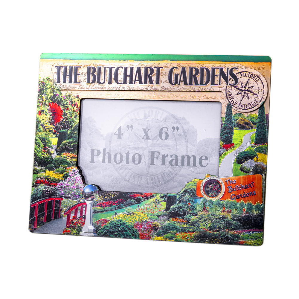 BUTCHART GARDENS SHINY PHOTO FRAME