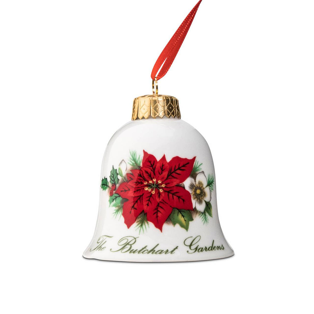 ORNAMENT BELL POINSETTIA