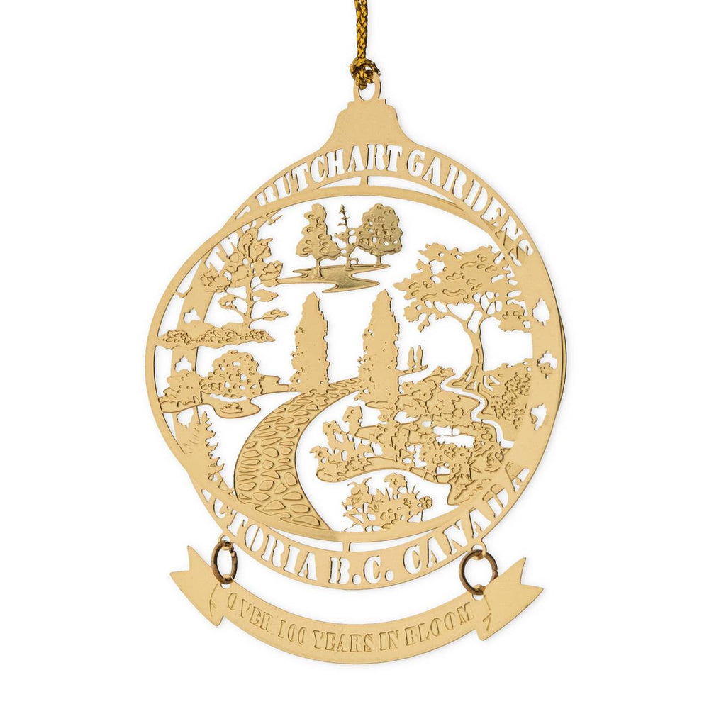 ORNAMENT GOLD SGDN WITH BANNER