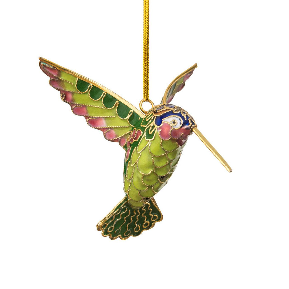 ORNAMENT HUMMINGBIRD CLOISONNE