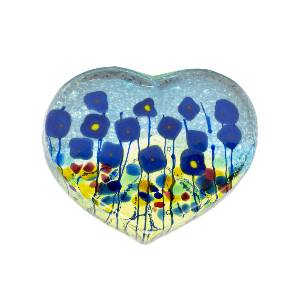 PAPERWEIGHT ROBERT HELD BLUE POPPY