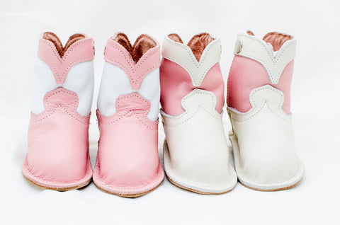 Pretty in Pink Basic Boots for that Special Girly-Girl Baby