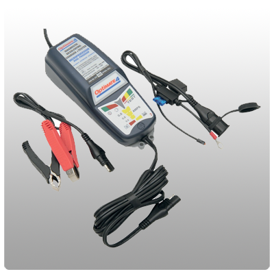 Optimate 4 Dual Program Weatherproof Desulfating Battery Charger/Maintainer