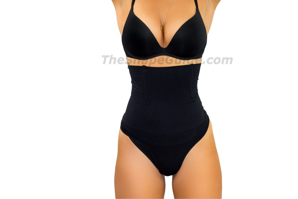 2f5253368ab48 Black Short Waist Tummy Cincher Shapewear Corset UK – TheShapeGuide