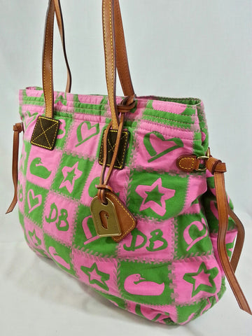 Dooney & Bourke Checkered Tote & Cosmetic Bag