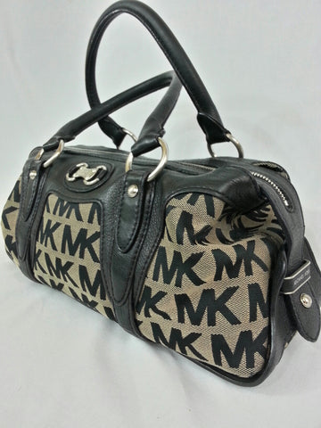 Michael Kors Black & Beige Satchel