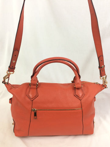Ora Delphine Salmon Orange Satchel Purse Handbag
