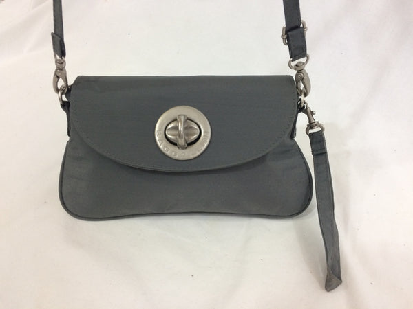 Baggallini Slate Gray Slim Crossbody City Bag Traveler
