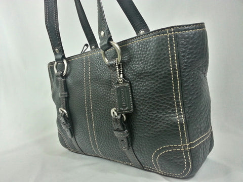 Coach Black Leather Satchel