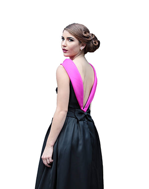 HERITAGE COUTURE DM-5807G -B/P GAZAR BLACK AND PINK GOWNHERITAGE COUTURE DM-5807G -B/P GAZAR BLACK AND PINK GOWN, EVENING GOWNS 2018 COLLECTION, DAVID MAISON, DAVID MAISON  - DAVID MAISON