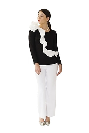 HABANA TO PARIS COLLECTION TOPS DAVID MAISON DM-2296T-B/W TOPHABANA TO PARIS COLLECTION TOPS DAVID MAISON DM-2296T-B/W TOP, COLLECTION TOPS, DAVID MAISON, DAVID MAISON  - DAVID MAISON