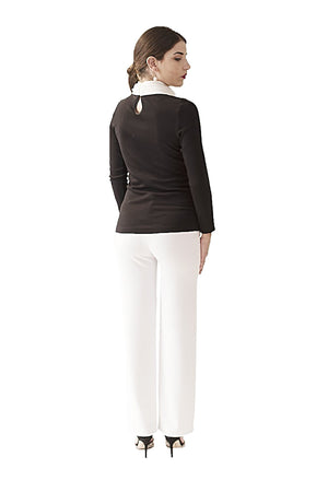HABANA TO PARIS COLLECTION TOPS DAVID MAISON DM-2296T-B/W TOPHABANA TO PARIS COLLECTION TOPS DAVID MAISON DM-2296T-B/W TOP, THE COLLECTION TOPS 2017, DAVID MAISON, DAVID MAISON  - DAVID MAISON
