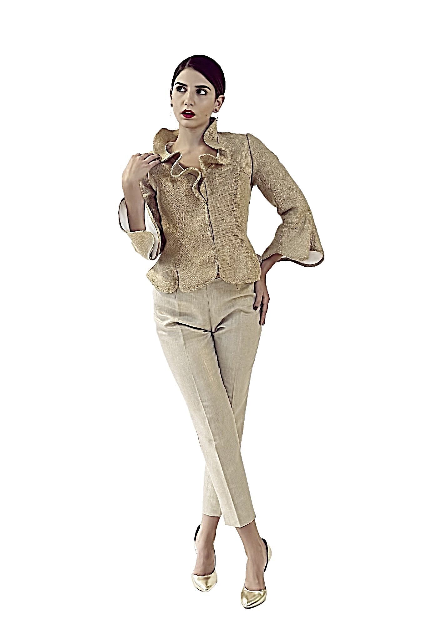 RESORT COLLECTION  DAVID MAISON DM-5397T-GOLD BURLAP JACKETRESORT COLLECTION  DAVID MAISON DM-5397T-GOLD BURLAP JACKET, THE RESORT COLLECTION TOPS 2017, DAVID MAISON, DAVID MAISON  - DAVID MAISON