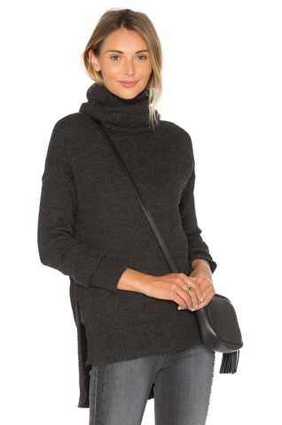 Hi-Lo Funnel Neck Sweater