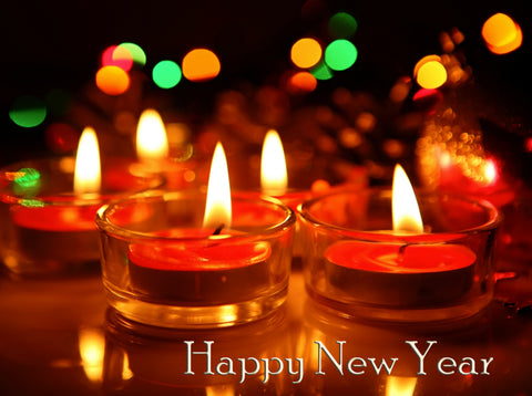 Happy New Year - Red Votive Candles