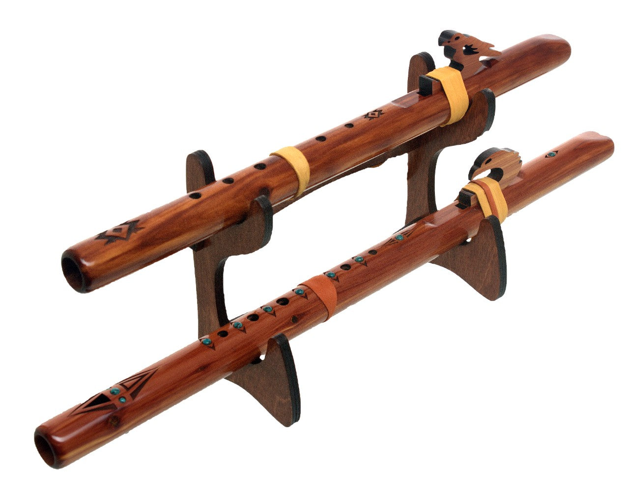 Double Flute Eco Stand - Stained