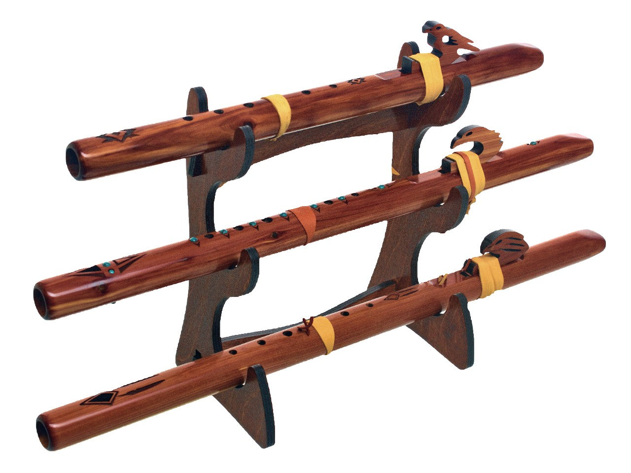 Triple Flute Eco Stand - Stained