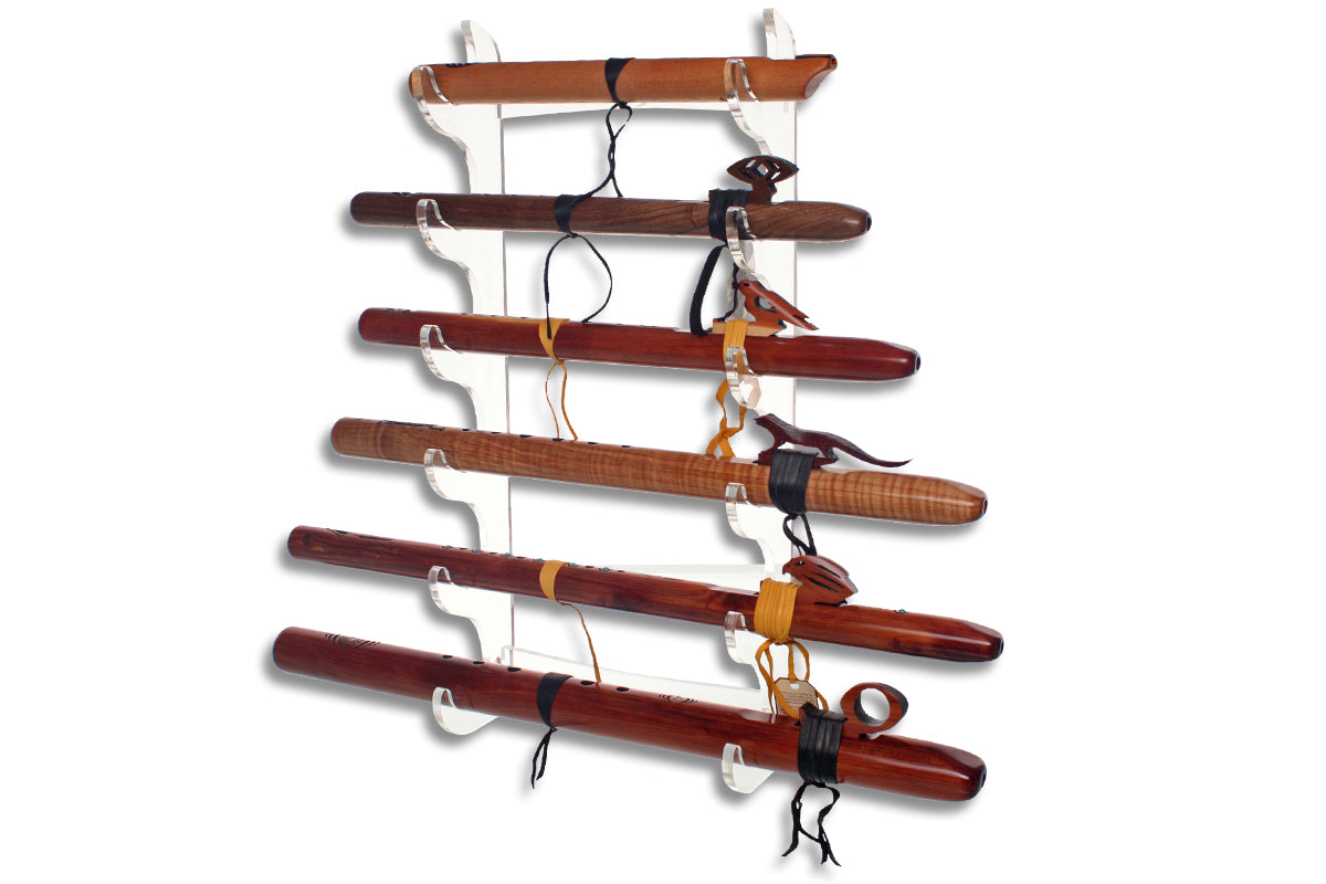 Six Flute Wall Display - Clear