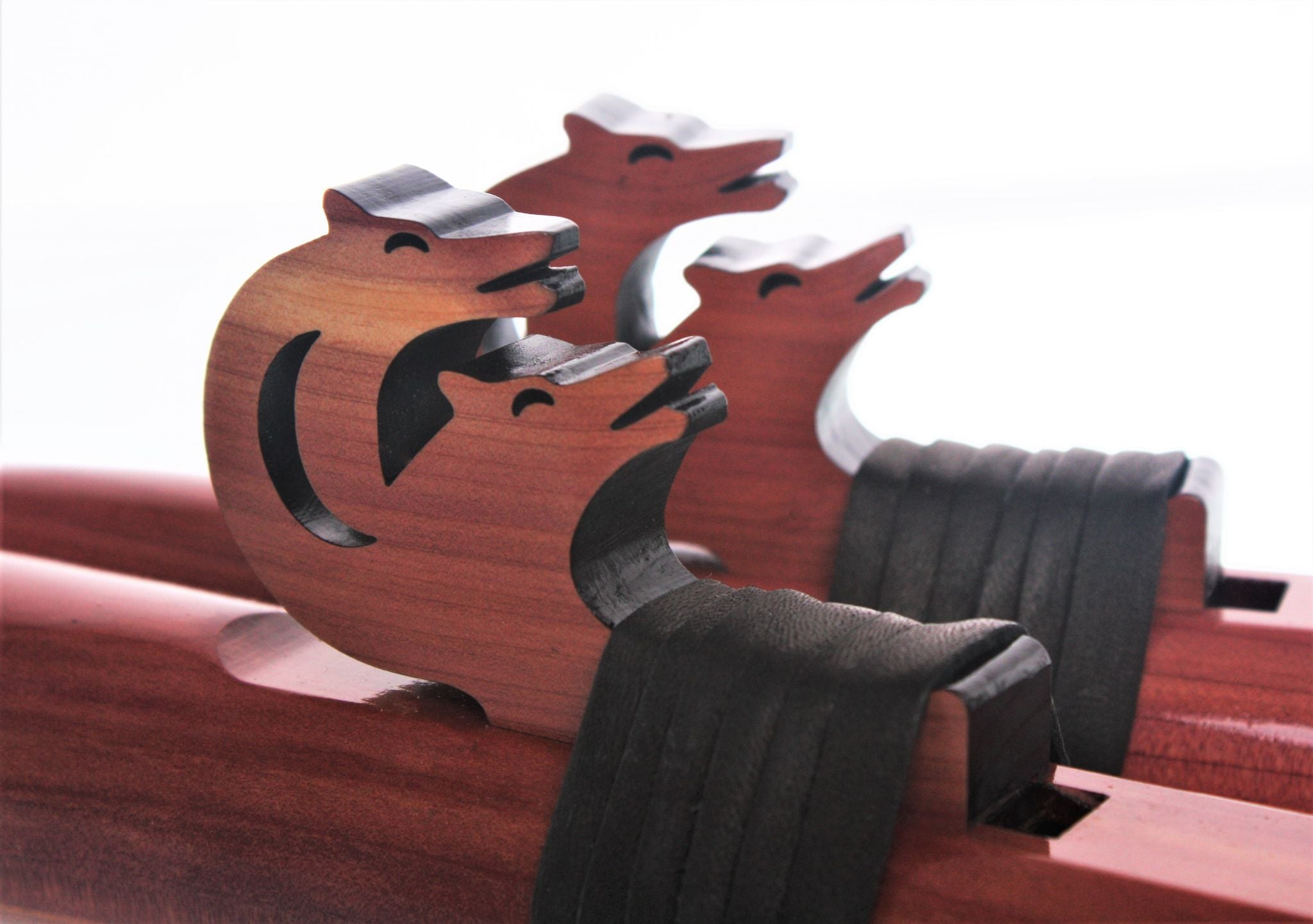 Wolf Pack 'F#' Signature Double Flute with Drone Holes - Aromatic Cedar