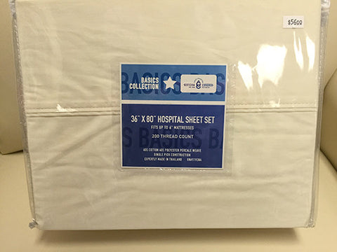 Basics Collection Hospital Bed Sheet Set
