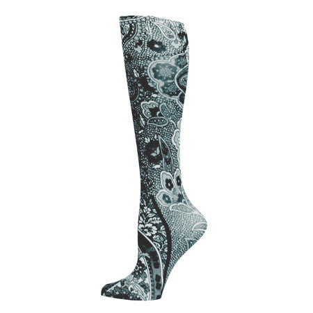 Black Paisley Compression Stocking