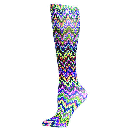 Blue Fleur Compression Stocking