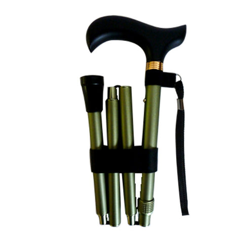 Adjustable Travel Folding Cane