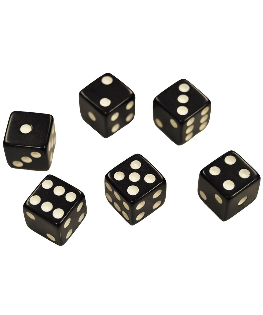 Set of 6 Black Dice